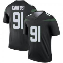 Legend Men's Bronson Kaufusi New York Jets Nike Color Rush Jersey - Stealth Black