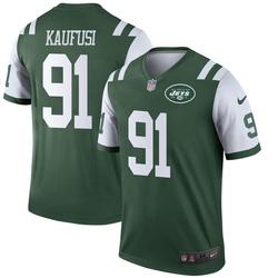 Legend Men's Bronson Kaufusi New York Jets Nike Jersey - Green