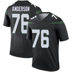 Legend Men's Calvin Anderson New York Jets Nike Color Rush Jersey - Stealth Black