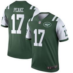 Legend Men's Charone Peake New York Jets Nike Jersey - Green