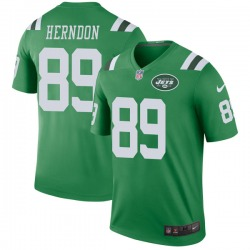 Legend Men's Chris Herndon New York Jets Nike Color Rush Jersey - Green