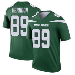 Legend Men's Chris Herndon New York Jets Nike Player Jersey - Gotham Green