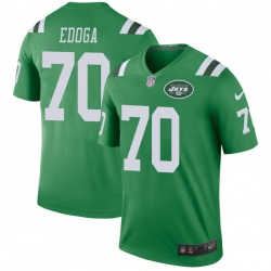Legend Men's Chuma Edoga New York Jets Nike Color Rush Jersey - Green