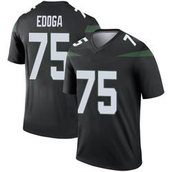 Legend Men's Chuma Edoga New York Jets Nike Color Rush Jersey - Stealth Black