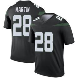 Legend Men's Curtis Martin New York Jets Nike Color Rush Jersey - Stealth Black
