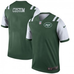 Legend Men's Custom New York Jets Nike # # Jersey - Green
