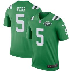 Legend Men's Davis Webb New York Jets Nike Color Rush Jersey - Green