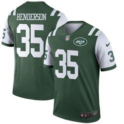 Legend Men's De'Angelo Henderson New York Jets Nike Jersey - Green