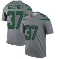 Legend Men's Dee Delaney New York Jets Nike Inverted Jersey - Gray