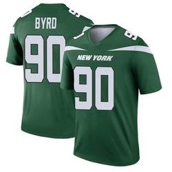 Legend Men's Dennis Byrd New York Jets Nike Player Jersey - Gotham Green