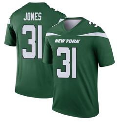 Legend Men's Derrick Jones New York Jets Nike Player Jersey - Gotham Green