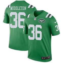 Legend Men's Doug Middleton New York Jets Nike Color Rush Jersey - Green