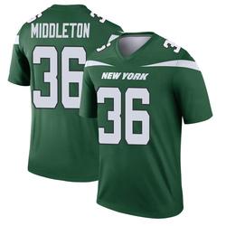 Legend Men's Doug Middleton New York Jets Nike Player Jersey - Gotham Green