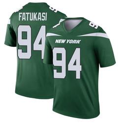 Legend Men's Folorunso Fatukasi New York Jets Nike Player Jersey - Gotham Green