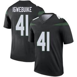 Legend Men's Godwin Igwebuike New York Jets Nike Color Rush Jersey - Stealth Black