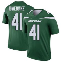 Legend Men's Godwin Igwebuike New York Jets Nike Player Jersey - Gotham Green
