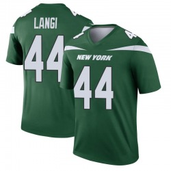 Legend Men's Harvey Langi New York Jets Nike Player Jersey - Gotham Green