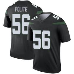 Legend Men's Jachai Polite New York Jets Nike Color Rush Jersey - Stealth Black
