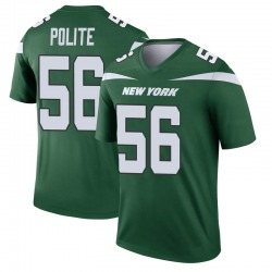 Legend Men's Jachai Polite New York Jets Nike Player Jersey - Gotham Green