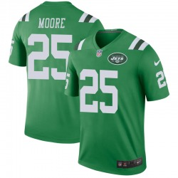 Legend Men's Jalin Moore New York Jets Nike Color Rush Jersey - Green