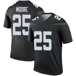 Legend Men's Jalin Moore New York Jets Nike Color Rush Jersey - Stealth Black