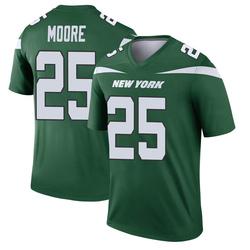Legend Men's Jalin Moore New York Jets Nike Player Jersey - Gotham Green