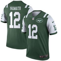 Legend Men's Joe Namath New York Jets Nike Jersey - Green