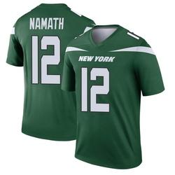 Legend Men's Joe Namath New York Jets Nike Player Jersey - Gotham Green
