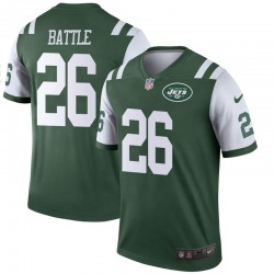Legend Men's John Battle New York Jets Nike Jersey - Green