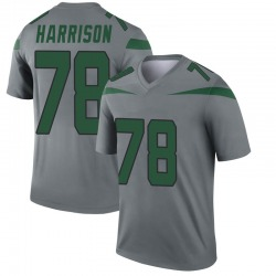 separation shoes 23133 3e1ec Legend Men's Jonotthan Harrison New York Jets Nike Inverted Jersey - Gray