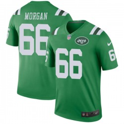 Legend Men's Jordan Morgan New York Jets Nike Color Rush Jersey - Green