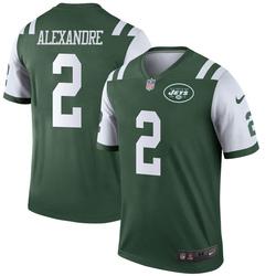 Legend Men's Justin Alexandre New York Jets Nike Jersey - Green