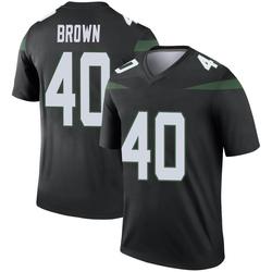 Legend Men's Kyron Brown New York Jets Nike Color Rush Jersey - Stealth Black