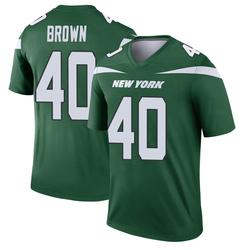 Legend Men's Kyron Brown New York Jets Nike Player Jersey - Gotham Green