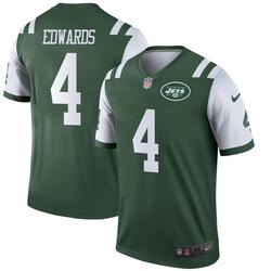 Legend Men's Lachlan Edwards New York Jets Nike Jersey - Green