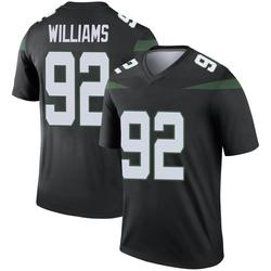 Legend Men's Leonard Williams New York Jets Nike Color Rush Jersey - Stealth Black