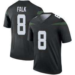 Legend Men's Luke Falk New York Jets Nike Color Rush Jersey - Stealth Black