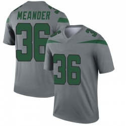 Legend Men's Montrel Meander New York Jets Nike Inverted Jersey - Gray