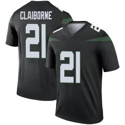Legend Men's Morris Claiborne New York Jets Nike Color Rush Jersey - Stealth Black