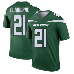 Legend Men's Morris Claiborne New York Jets Nike Player Jersey - Gotham Green