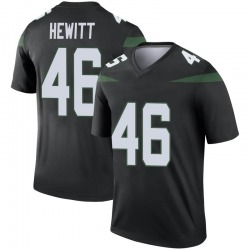 Legend Men's Neville Hewitt New York Jets Nike Color Rush Jersey - Stealth Black