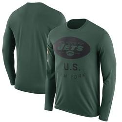 Legend Men's New York Jets Nike 2018 Salute to Service Sideline Performance Long Sleeve T-Shirt - Green