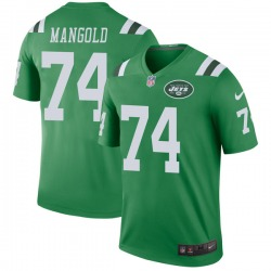 Legend Men's Nick Mangold New York Jets Nike Color Rush Jersey - Green