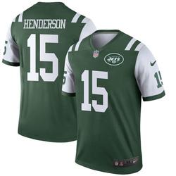 Legend Men's Quadree Henderson New York Jets Nike Jersey - Green