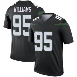 Legend Men's Quinnen Williams New York Jets Nike Color Rush Jersey - Stealth Black