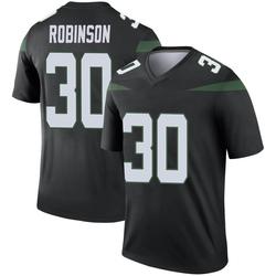 Legend Men's Rashard Robinson New York Jets Nike Color Rush Jersey - Stealth Black