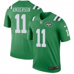 Legend Men's Robby Anderson New York Jets Nike Color Rush Jersey - Green