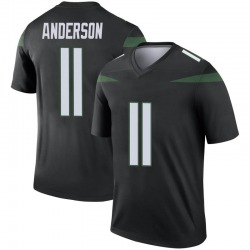 Legend Men's Robby Anderson New York Jets Nike Color Rush Jersey - Stealth Black