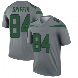 Legend Men's Ryan Griffin New York Jets Nike Inverted Jersey - Gray