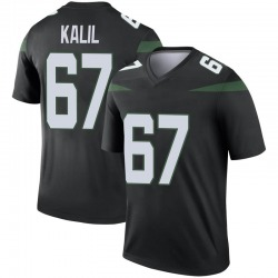Legend Men's Ryan Kalil New York Jets Nike Color Rush Jersey - Stealth Black